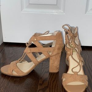 Lace up Suede heels